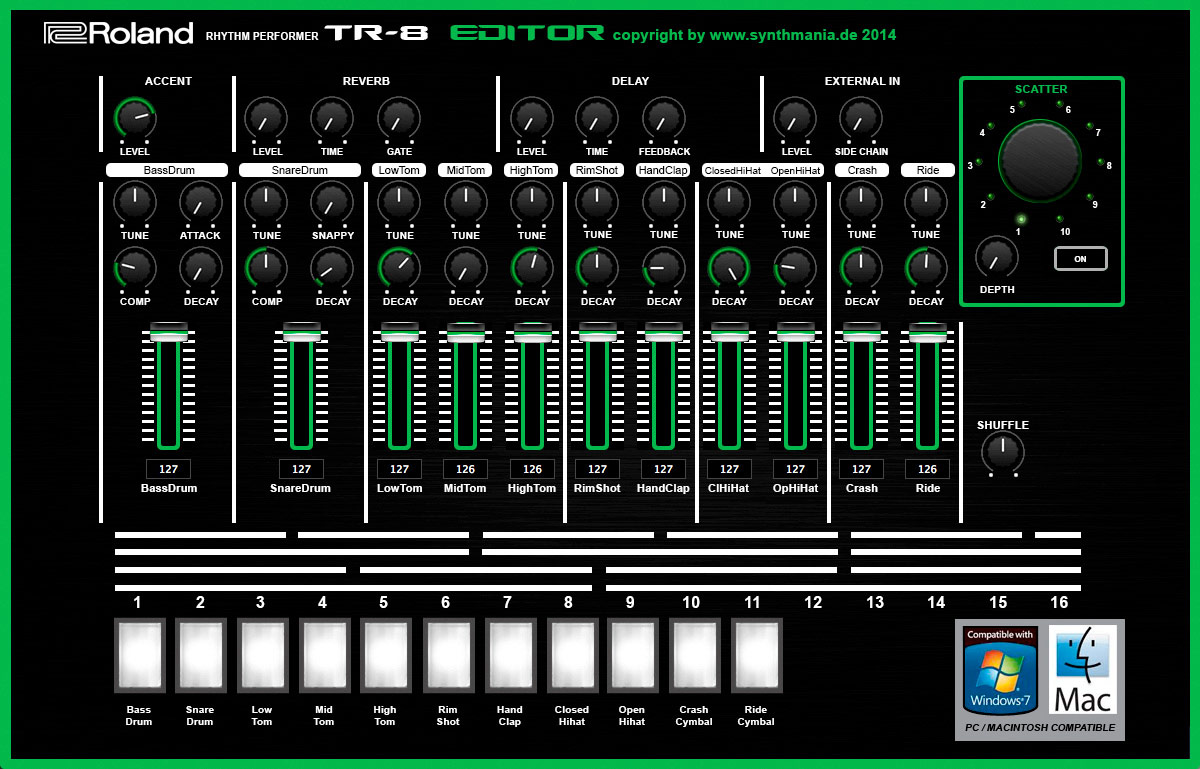 Roland TR-8 Editor VST für Mac und Windows - Synthmania